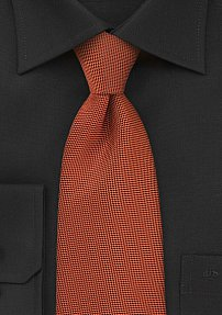 Burnt Orange Tie with Matte Finish