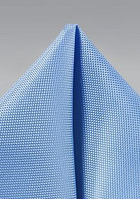 Matte Finish Pocket Square in Sky