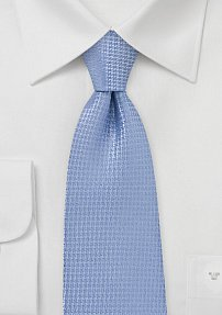 Micro Check Tie In Light Blue