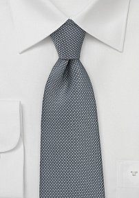 Mini Check Tie in Pewter