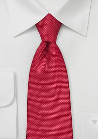XL Size Grenadine Tie in Bright Red