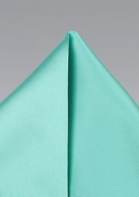 Beach Glass Colored Pocket Squre