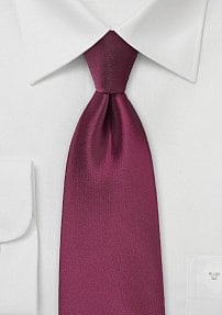 Single Colored Tie in Claret Red