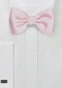Solid Blush Bow Tie