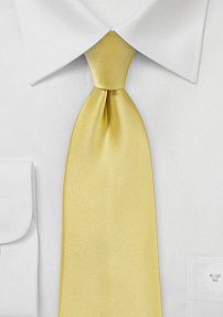 Single Colored Tie in Butter Yellow