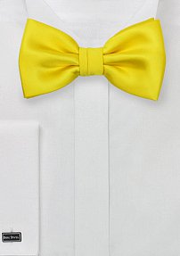 Solid Colored Canary Yellow Bow Tie
