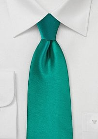 Solid Neck Tie in Jade