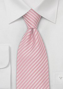 Summer Striped Tie in Petal Pink
