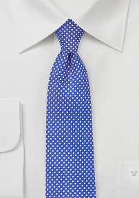 Narrow Pin Dot Tie in Horizon Blue