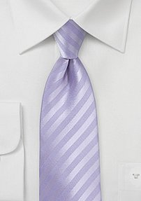 Summer Stripe Tie in French Lavender