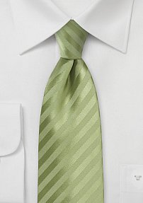 Soft Green Summer Tie with Subtle Stripes