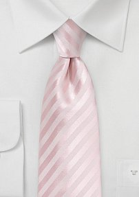 Summer XL Length Necktie in Blush