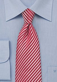 Summer Striped Tie in Punch Red