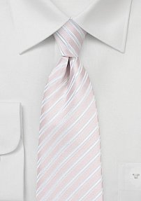 Striped Boys Tie in Blush
