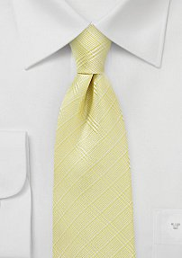 Summer Plaid Tie in Butter Popcorn Yellow