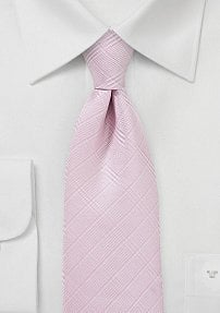 Summer Plaid Tie in Rose Pink