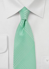 Geometric Print Tie in Summer Mint