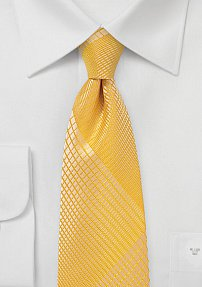 Summer Plaid Tie in Mimosa Yellow