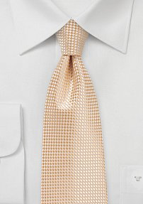 Textured Weave Tie in Summer Peach