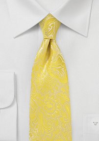 Boys Floral Paisley Tie in Frosted Citrus