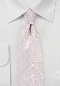 Extra Long Floral Paisley Tie in Blush