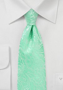 Floral Paisley in Spring Bud Green