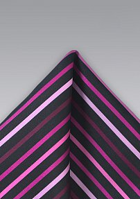 Pink Striped Handkerchief