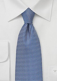 Diamond Patterned Boys Sized Tie in Pacific Blue