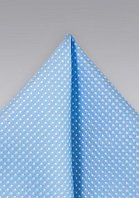 Pin Dot Pocket Square in Periwinkle