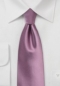 Solid Rose Tie in Extra Long Length