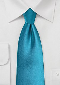 Mens Extra Long Tie in Peacock