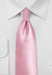 Solid Color Tie in Dusty Rose