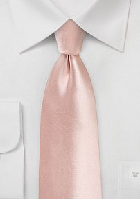 Extra Long Peach Blush Tie