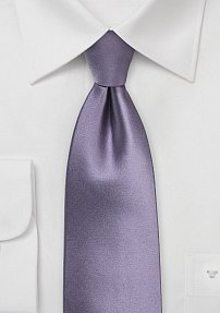 Solid Wisteria Tie in XL