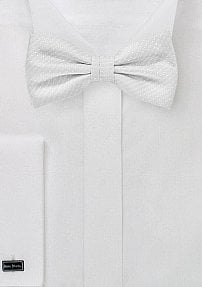 Trendy Light Ivory Bow Tie with Pin Dot Design