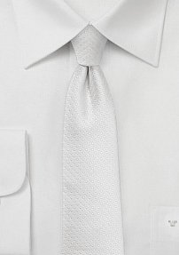 Pin Dot Skinny Tie in Ivory