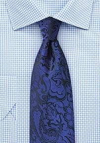Paisley Tie in Royal Blue
