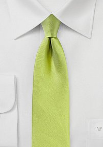 Apple Green Skinny Tie with Matte Texture