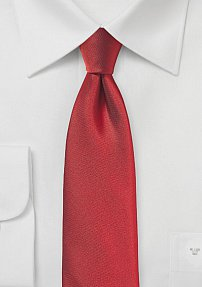 Slim Cut Tie in Paprika Red