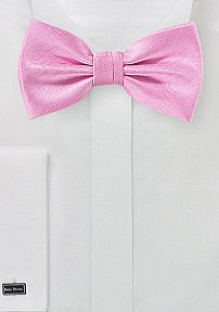 Matte Woven Bow Tie in Carnation Pink