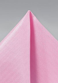 Solid Herringbone Hanky in Carnation Pink
