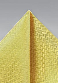 Woven Pocket Square in Sun Yellow