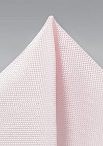 Microtexture Pocket Square in Blush