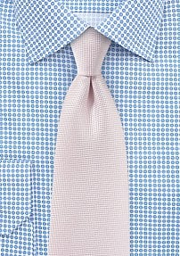 Microtexture Tie in Blush Pink