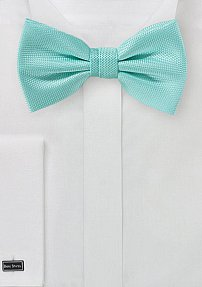 Microtexture Bow Tie in Beach Glass
