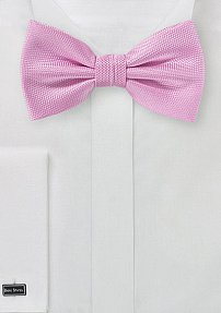 Bright Carnation Pink Textured Bow Tie