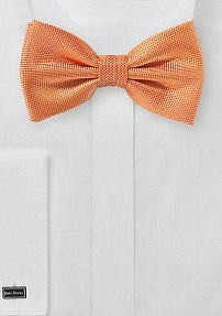 Microtexture Bowtie in Tangerine