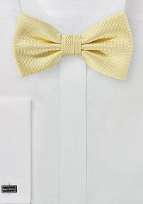 Microcheck Bow Tie in Butter Yellow