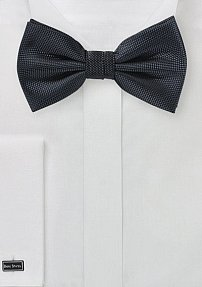 Matte Textured Bow Tie in Charcoal