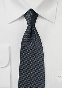 Microtexture Tie in Smoke Gray